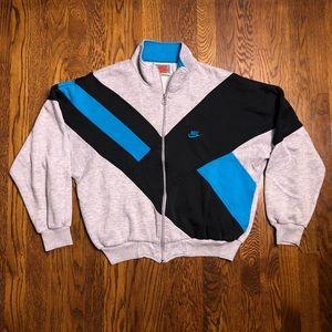 Vtg Nike Grey Tag Full Zip Up Colorblock Jacket